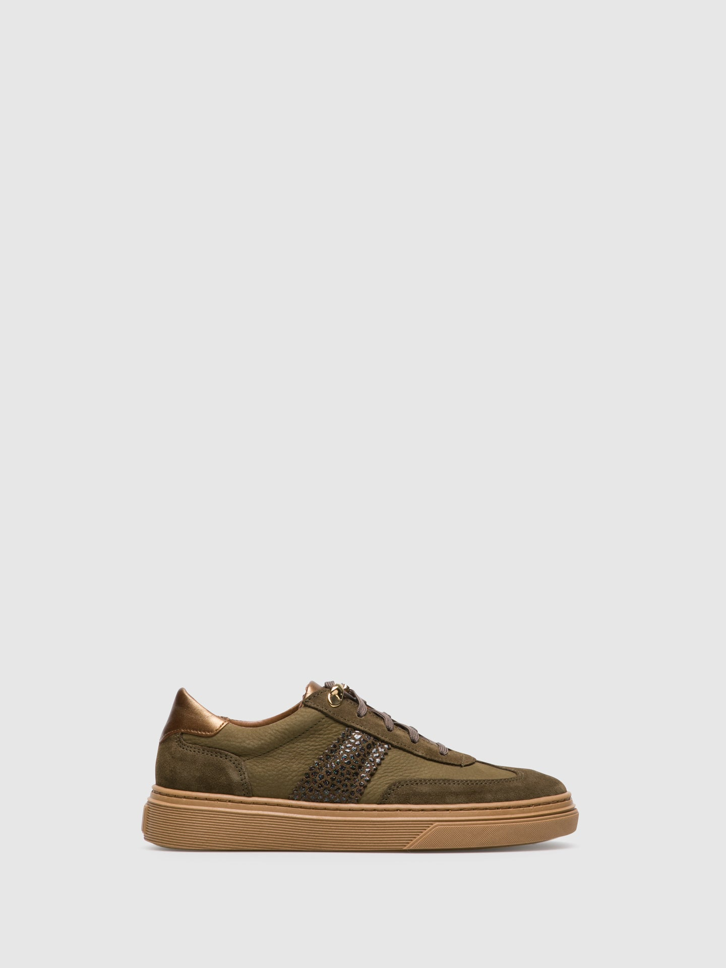 Foreva Khaki Lace-up Trainers