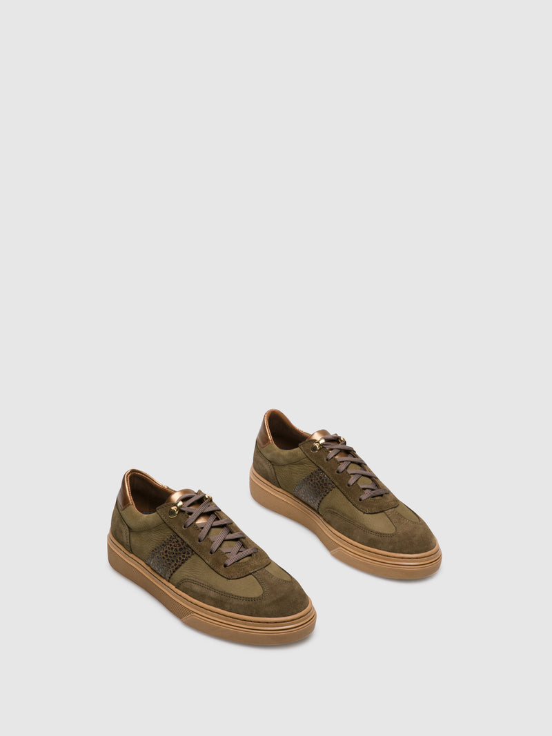 Khaki Lace-up Trainers