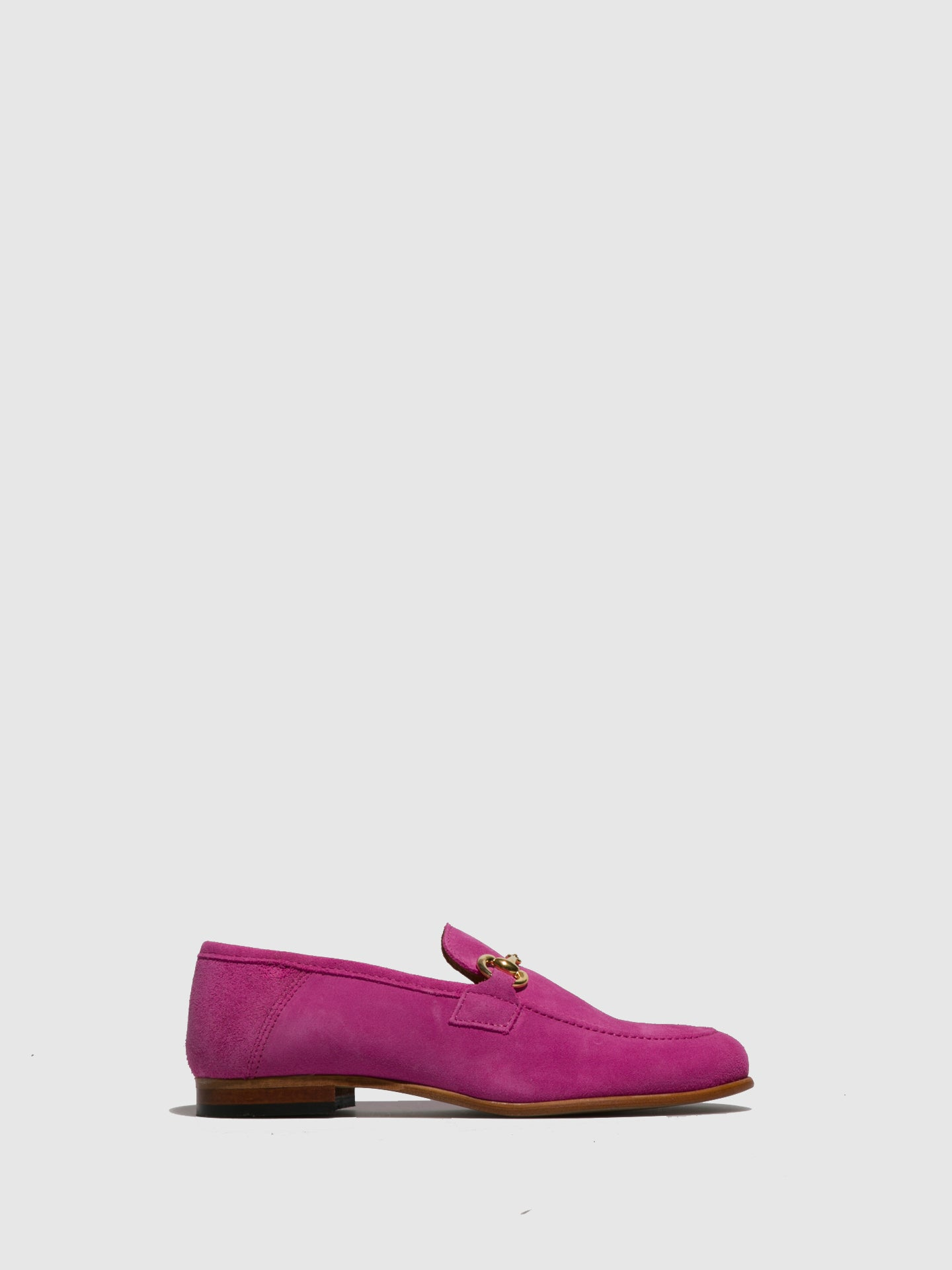 Foreva Pink Leather Mocassins Shoes