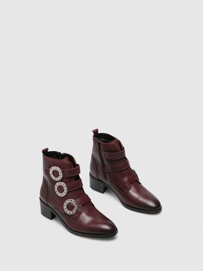 Foreva Crimson Zip up Ankle Boots