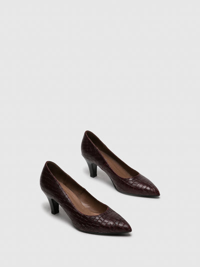 Foreva Crimson Pointed Toe Pumps