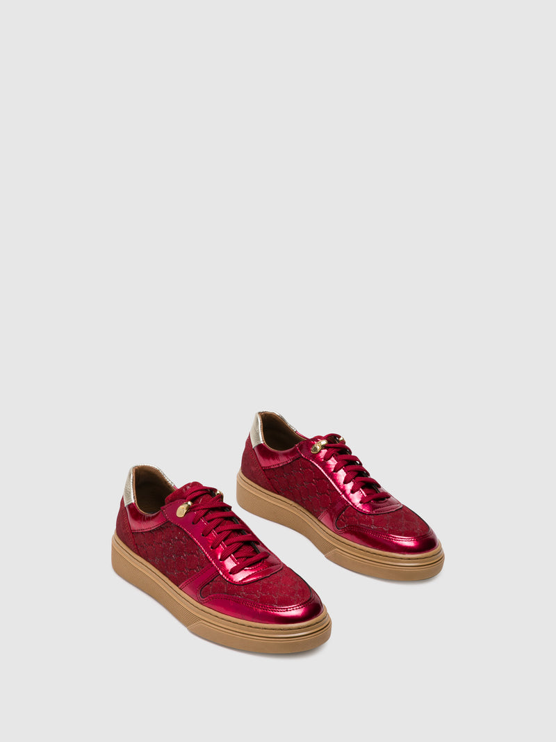 Crimson Lace-up Trainers