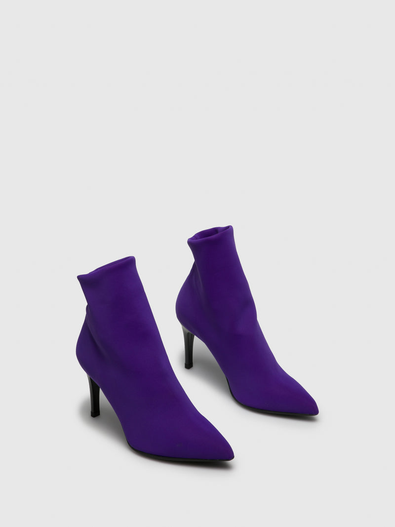 Lavender Sock Ankle Boots