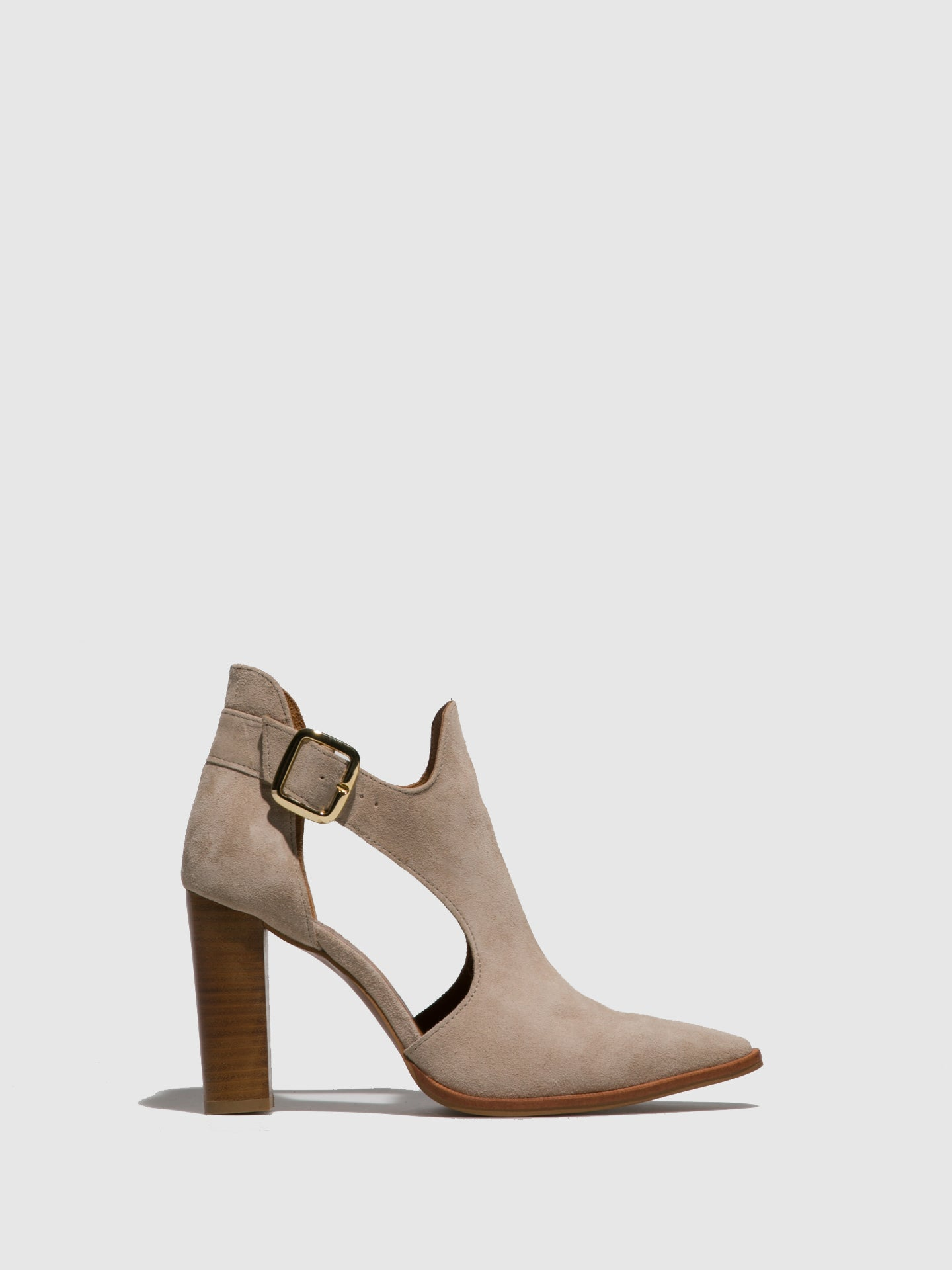 Foreva Beige Pointed Toe Ankle Boots