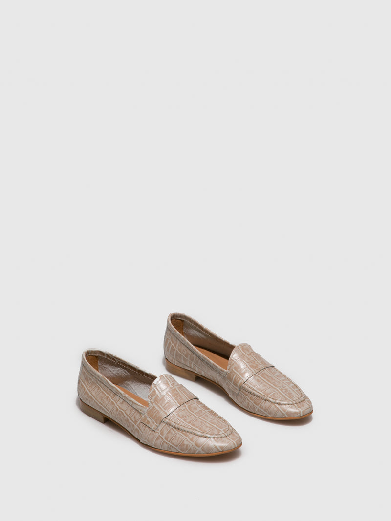 Beige Flat Shoes