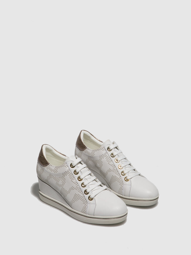 Foreva White Lace-up Trainers
