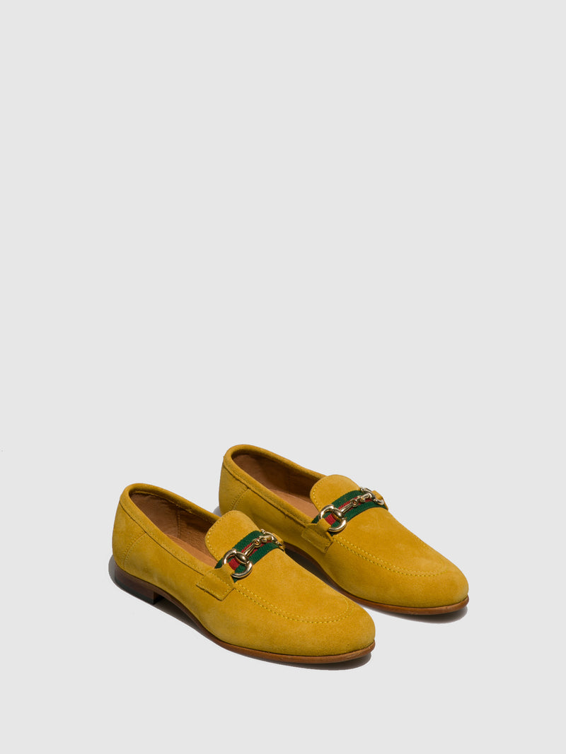 Foreva Yellow Leather Mocassins Shoes