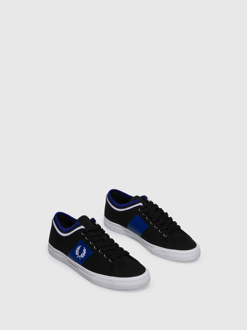 Fred Perry Black Lace-up Trainers