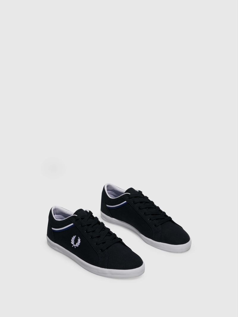 Fred Perry Navy Lace-up Trainers