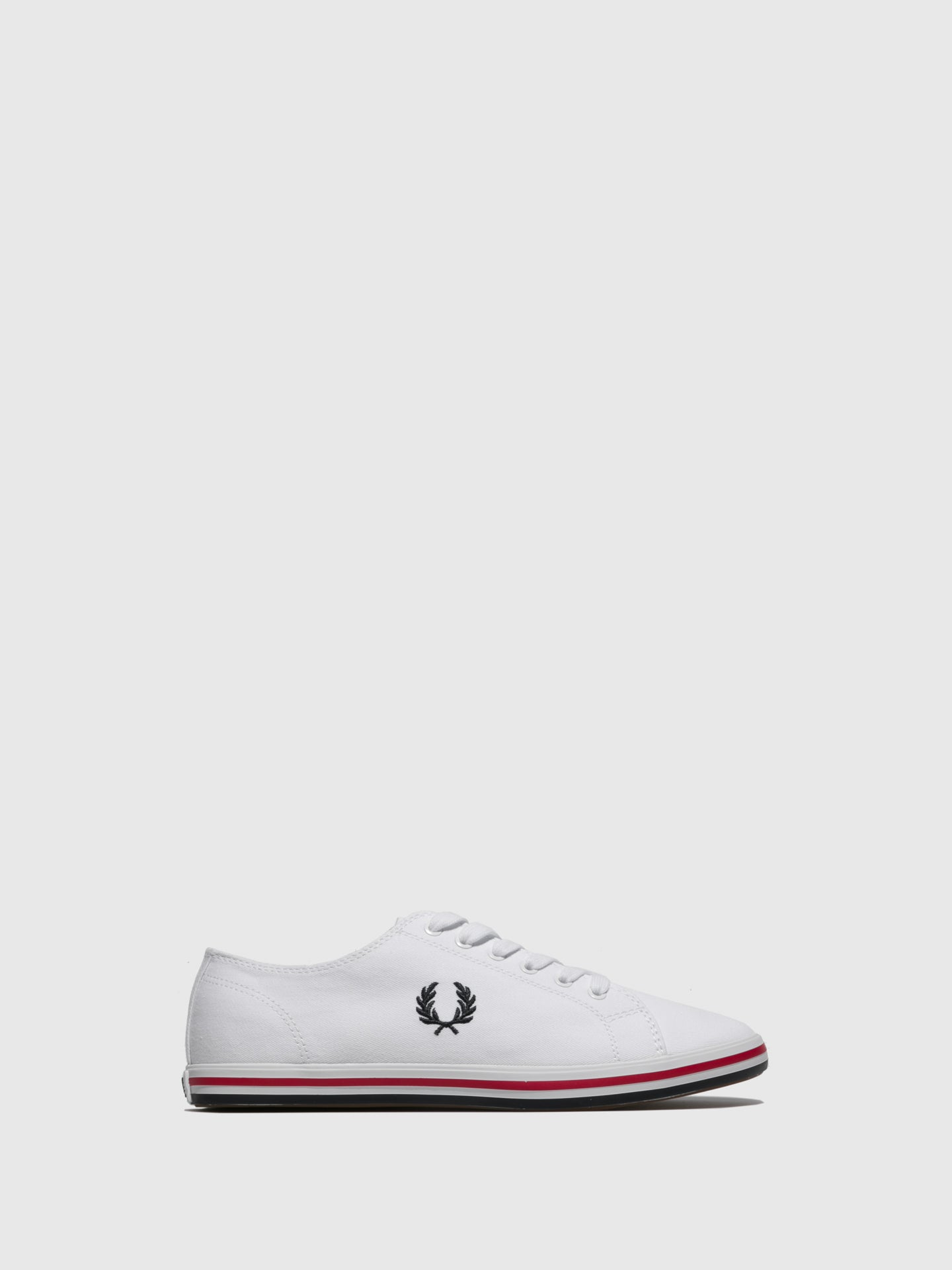 Fred Perry White Lace-up Trainers