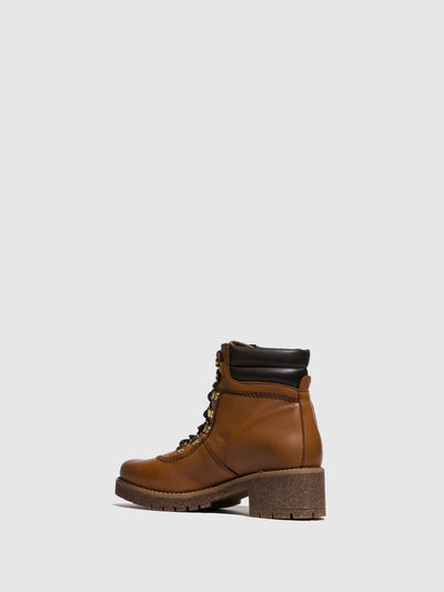 Fungi Camel Lace-up Boots