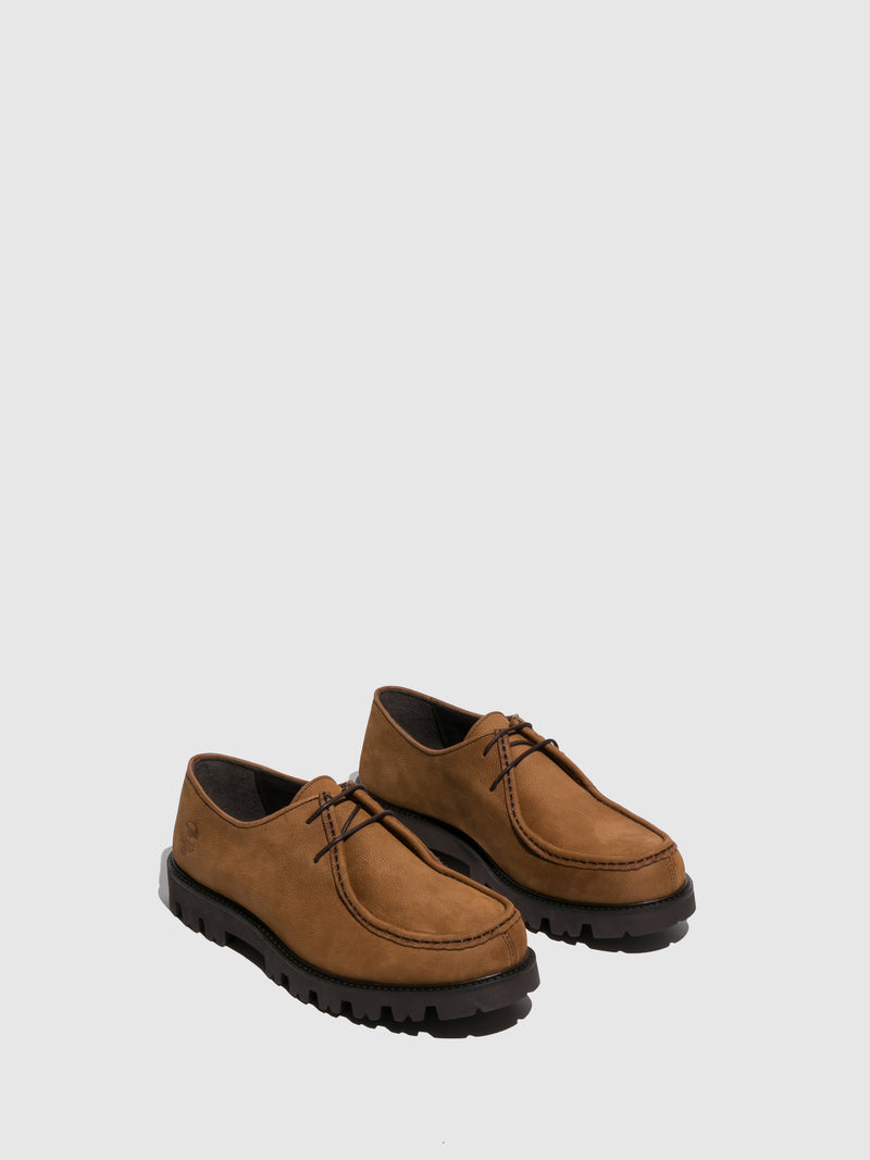 Fungi Camel Lace-up Shoes