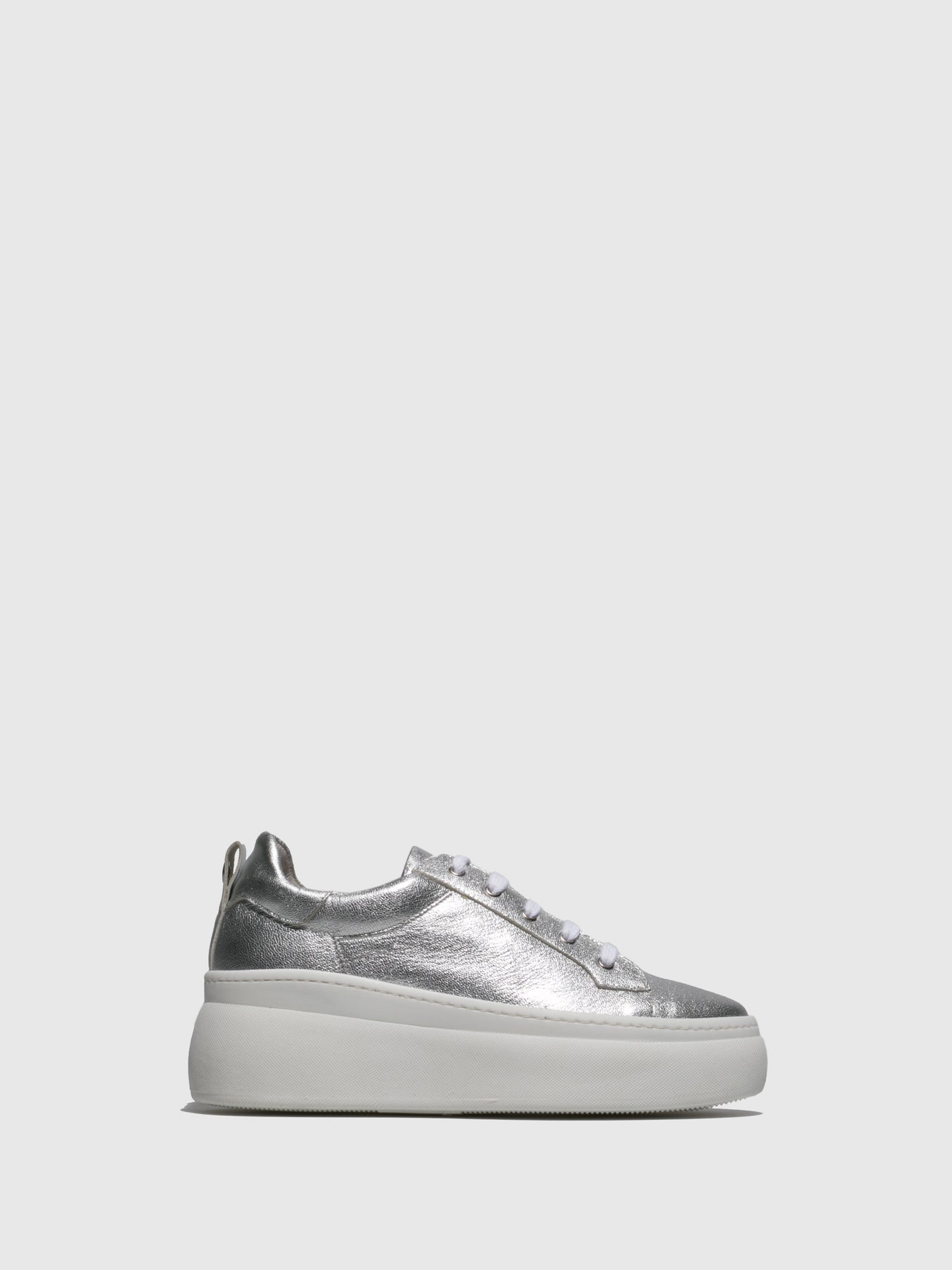 Fungi Silver Wedge Trainers