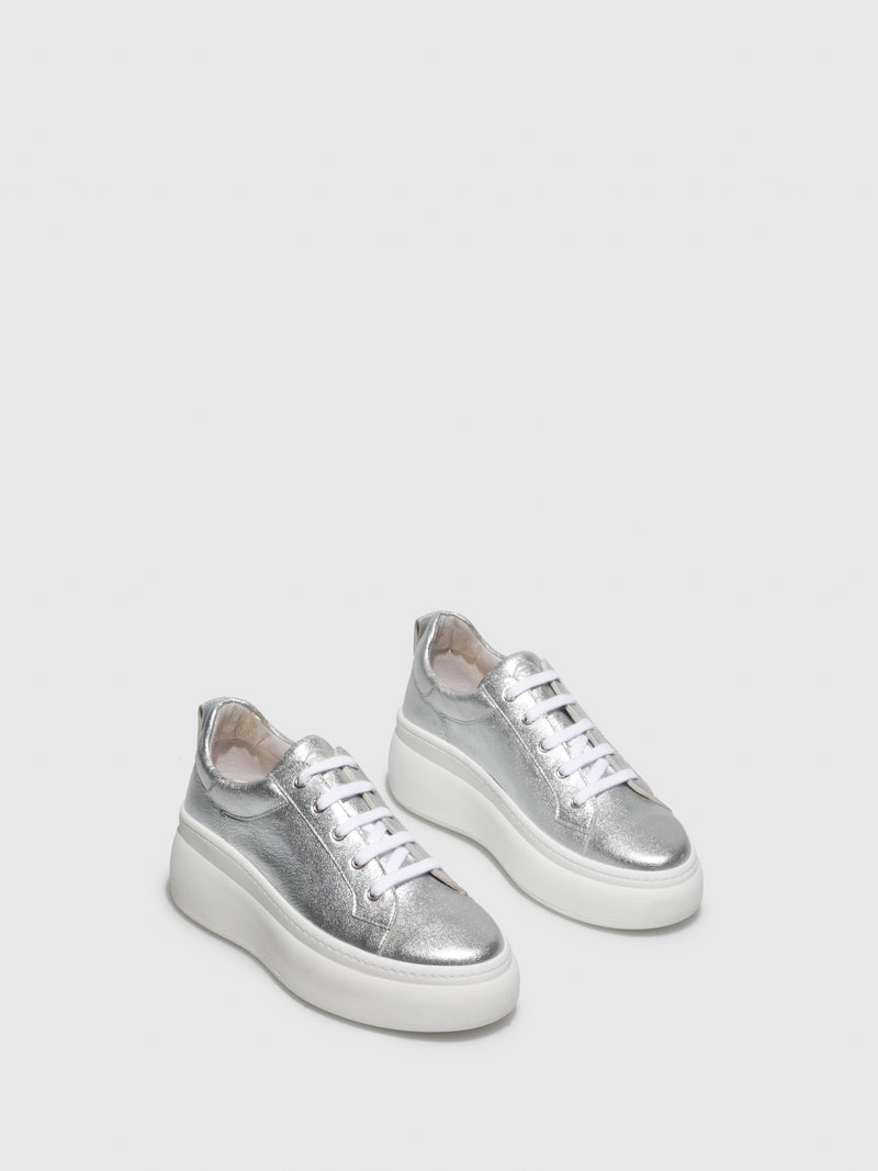 Silver Wedge Trainers