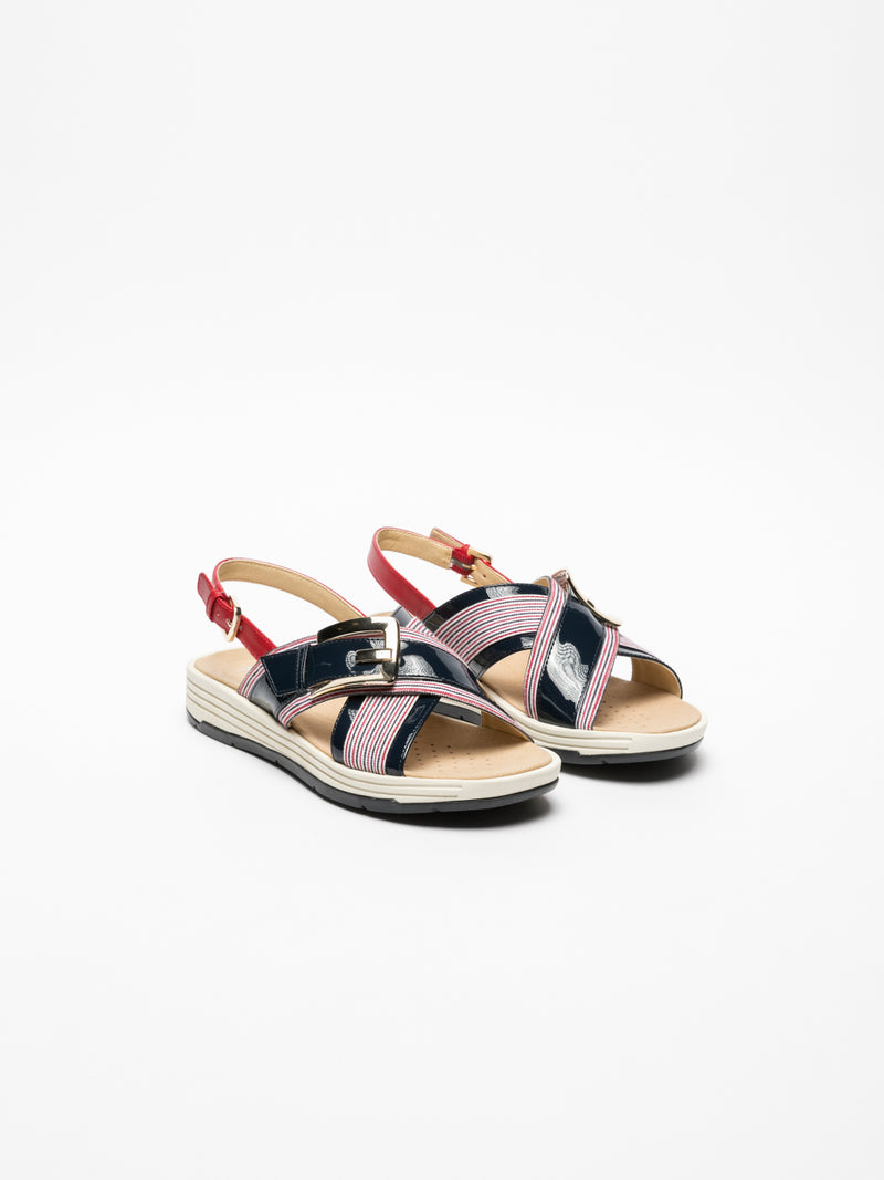 Multicolor Crossover Sandals