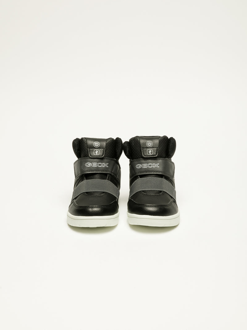 Geox Black Velcro Trainers