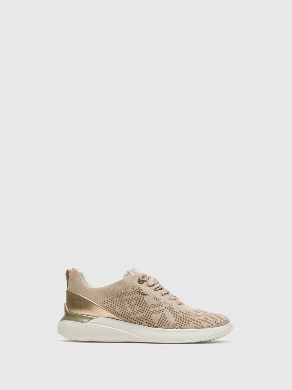 Geox Beige Lace-up Trainers