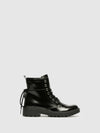 Geox Black Zip Up Ankle Boots