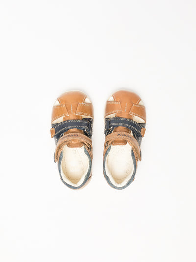 Geox Brown Buckle Sandals