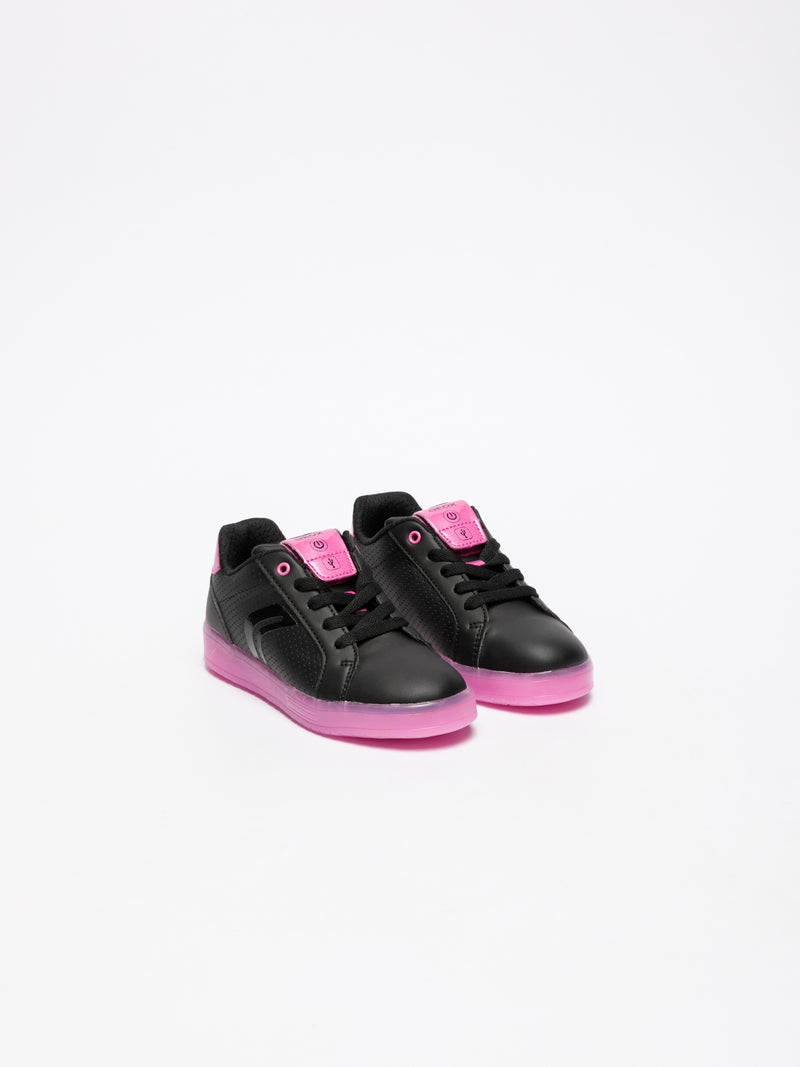 Geox Black Lace-up Trainers