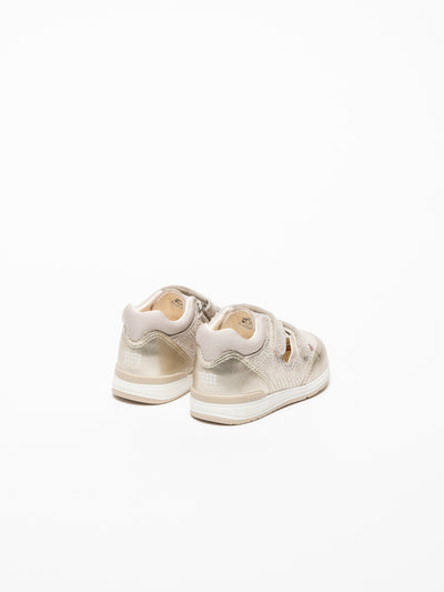 Geox Gold Velcro Trainers