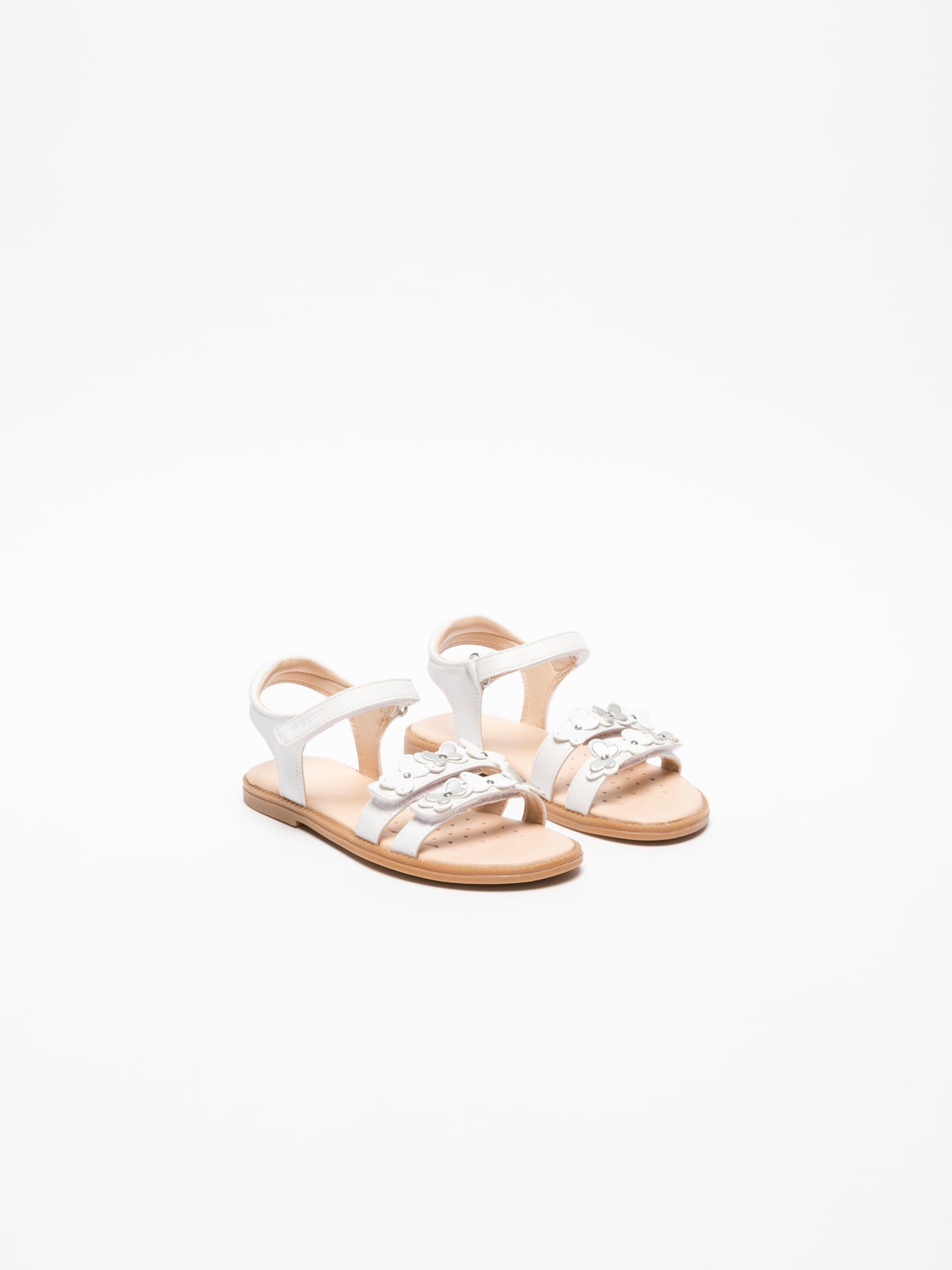 Geox White Strappy Sandals