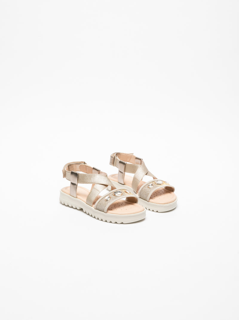 Geox Gold Crossover Sandals