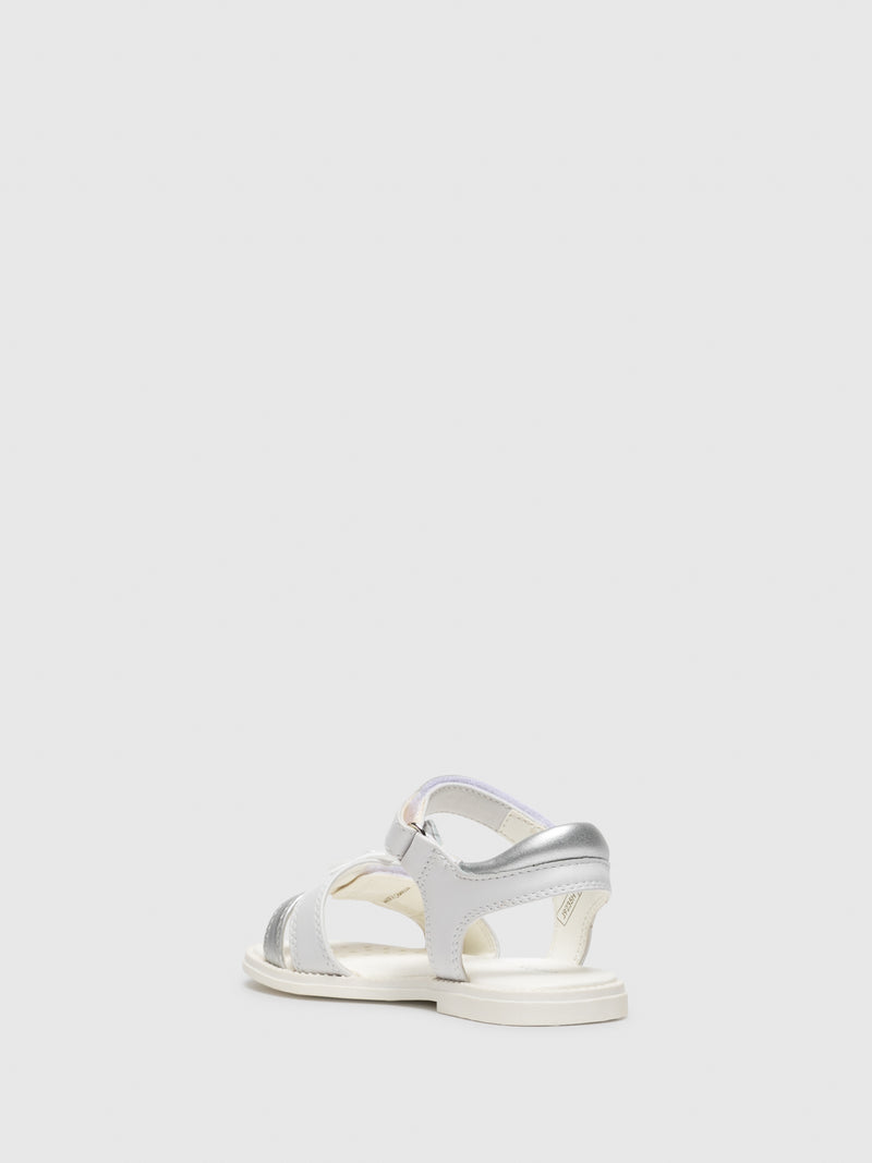 White Appliqués Sandals