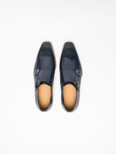 Gino Bianchi Blue Buckle Shoes