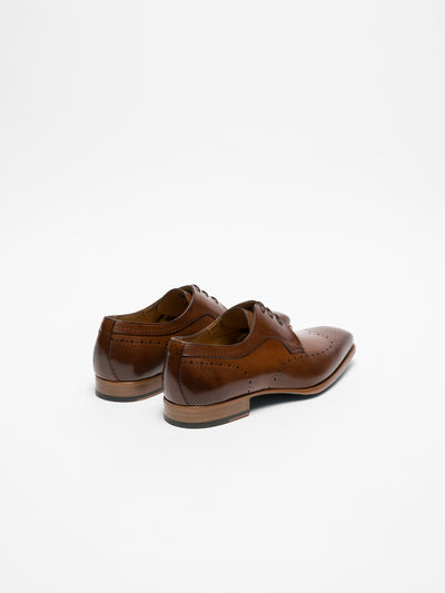 Gino Bianchi Brown Derby Shoes