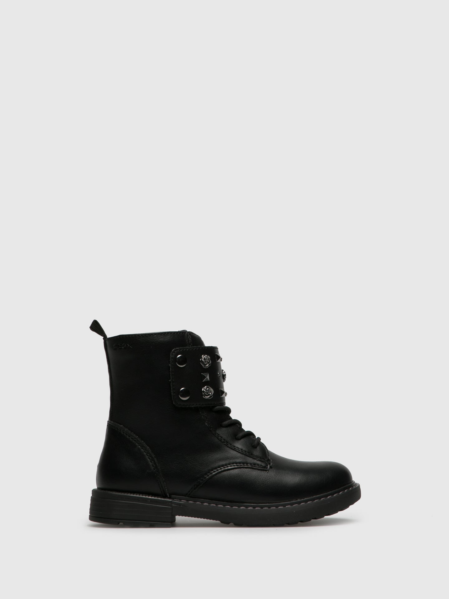 Geox Coal Black Zip Up Boots