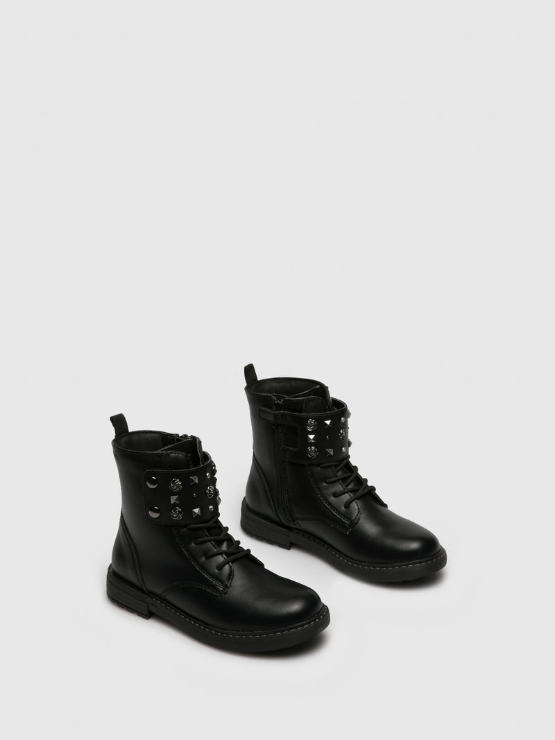 Coal Black Zip Up Boots