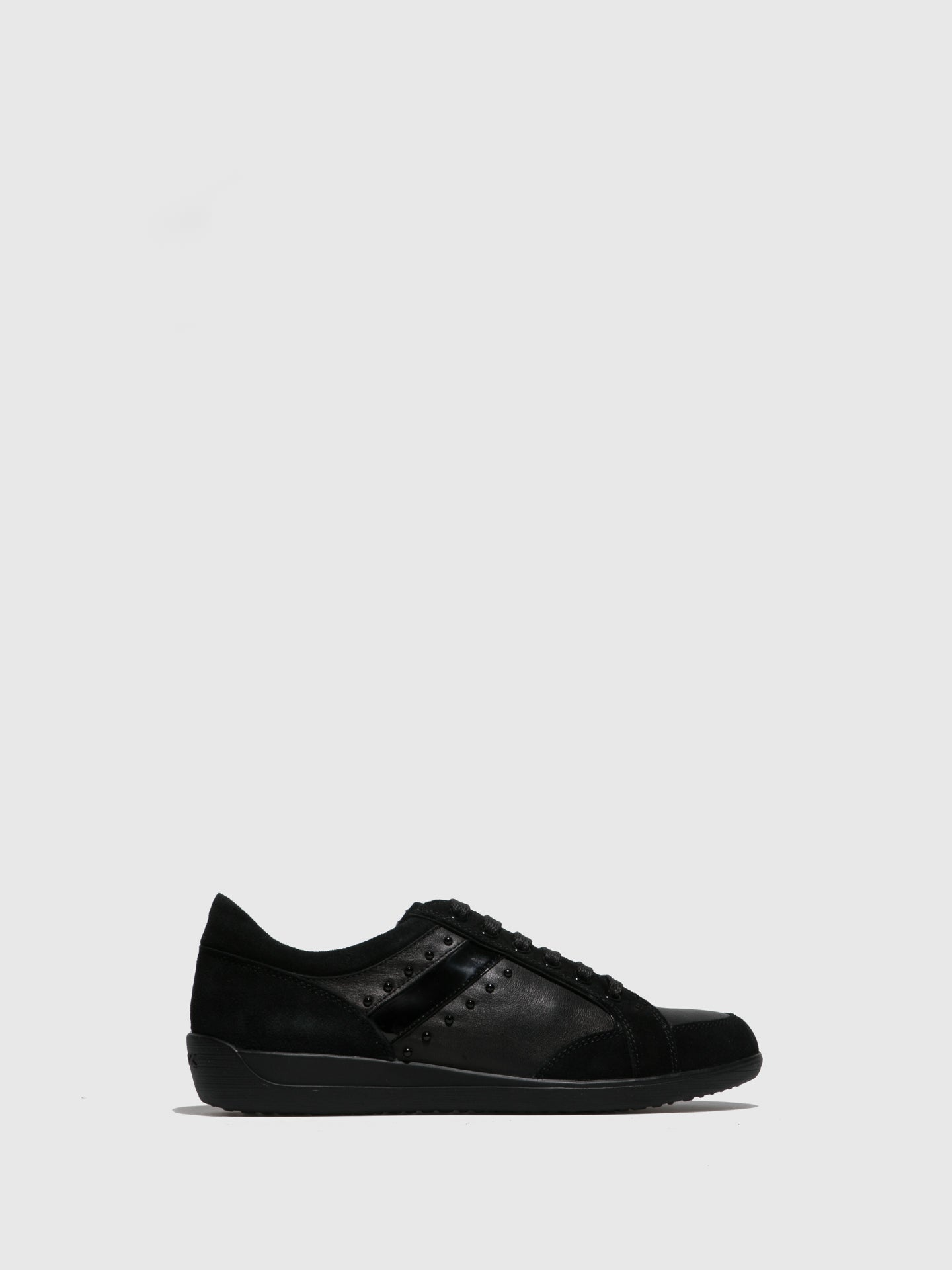 Geox Black Lace-up Shoes