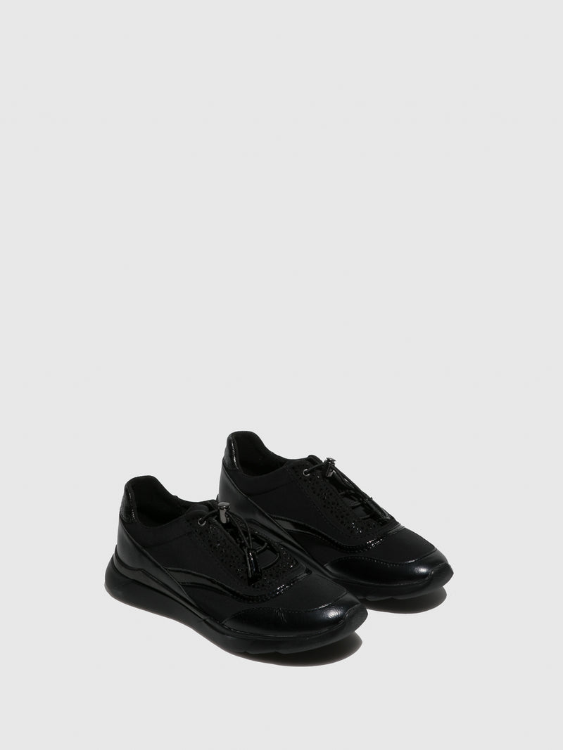 Black Elasticated Trainers