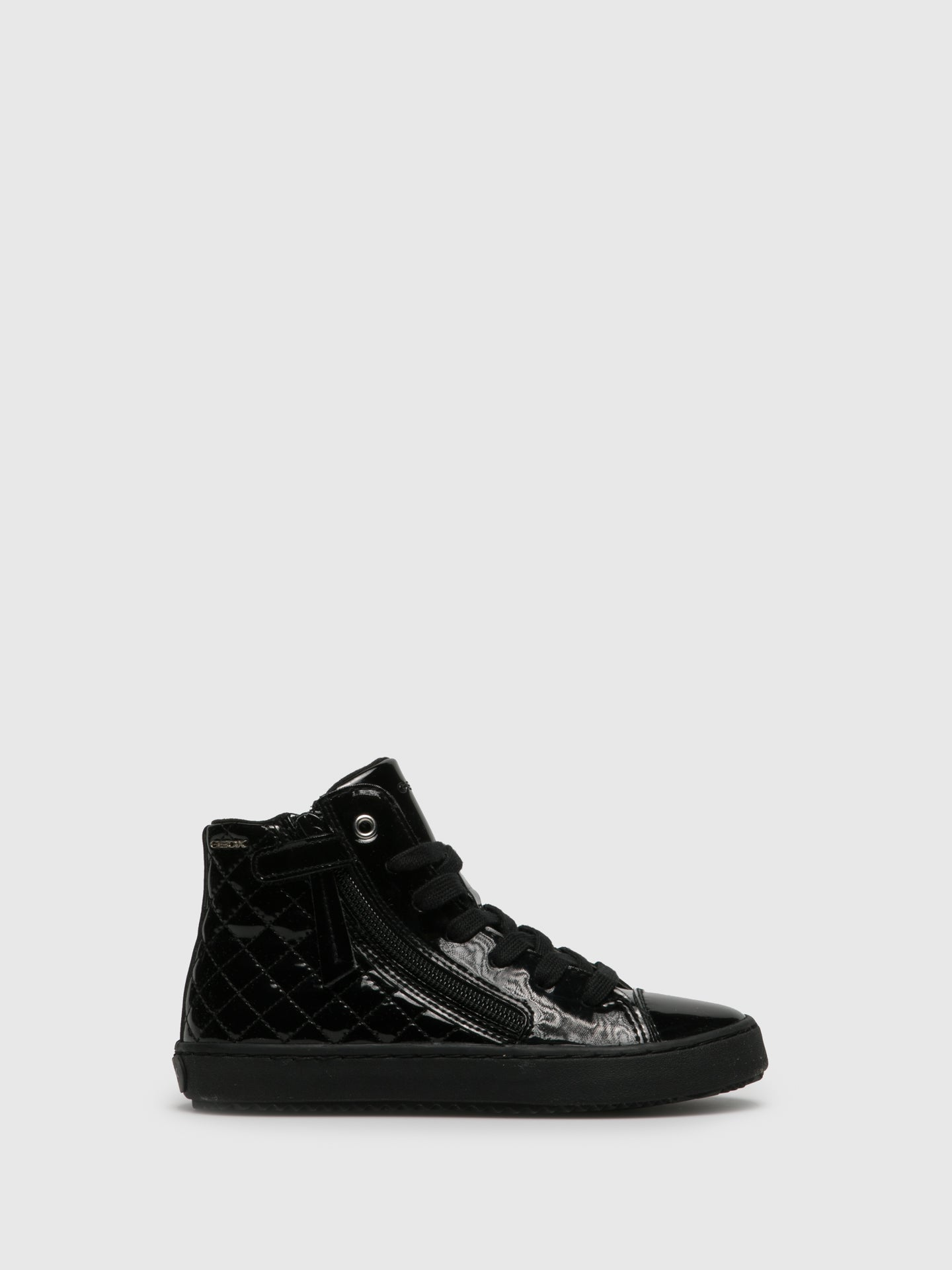 Geox Coal Black Hi-Top Trainers
