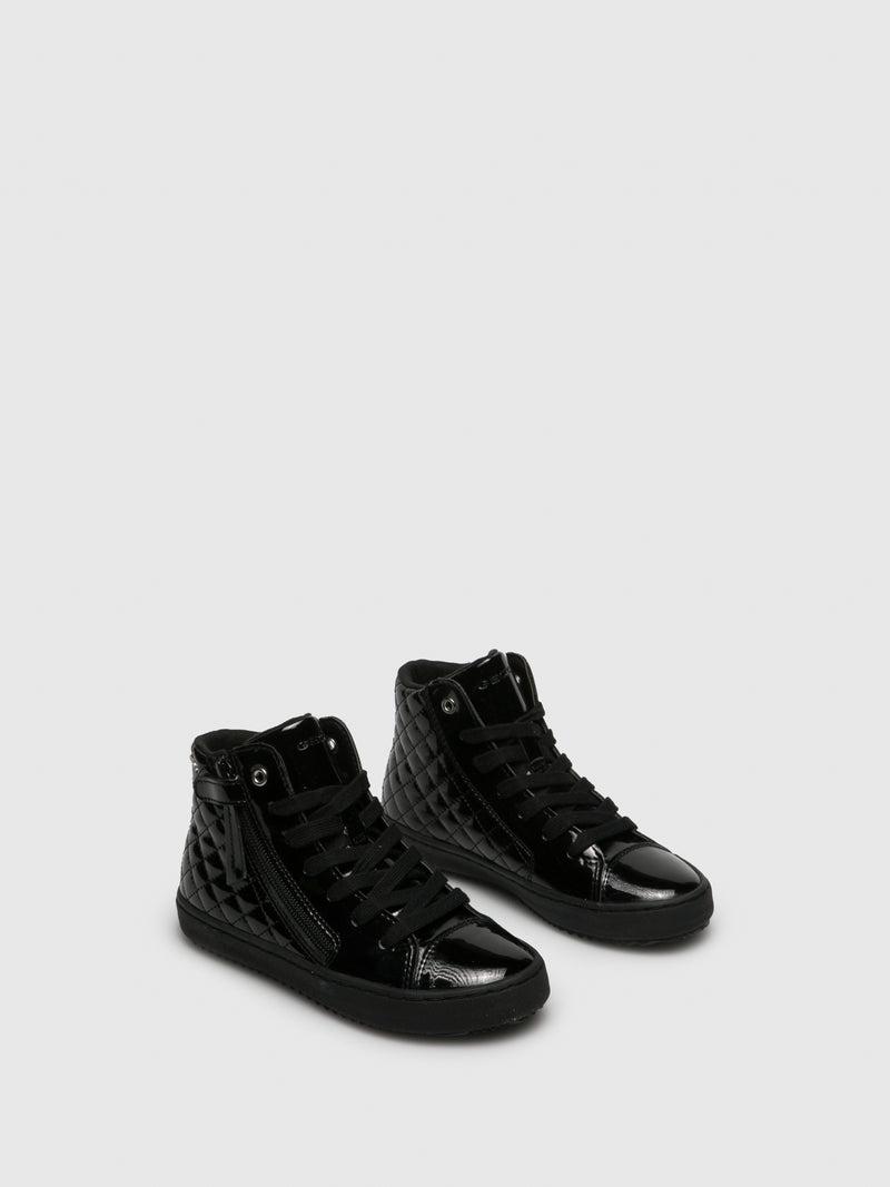 Coal Black Hi-Top Trainers