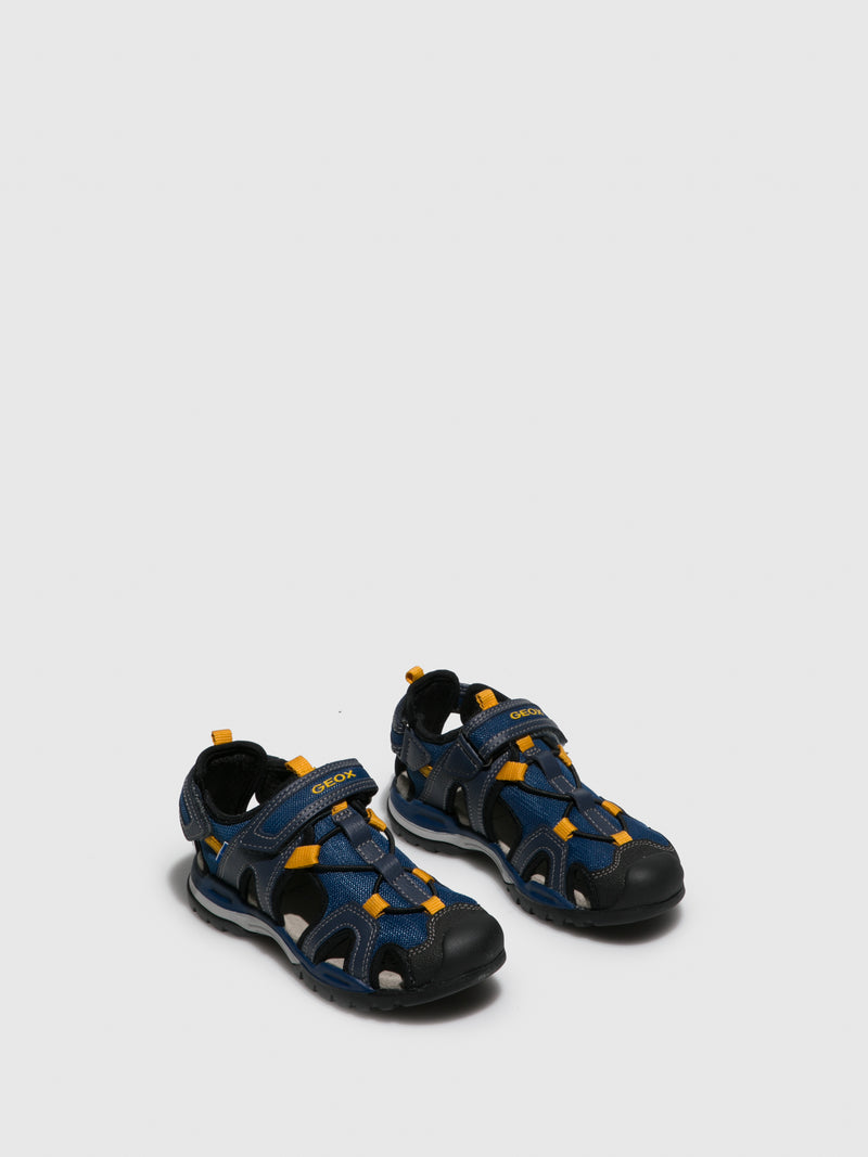 DarkBlue Crossover Sandals