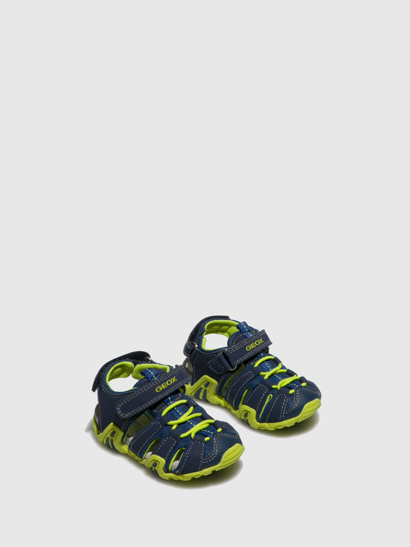 Geox Blue Crossover Sandals