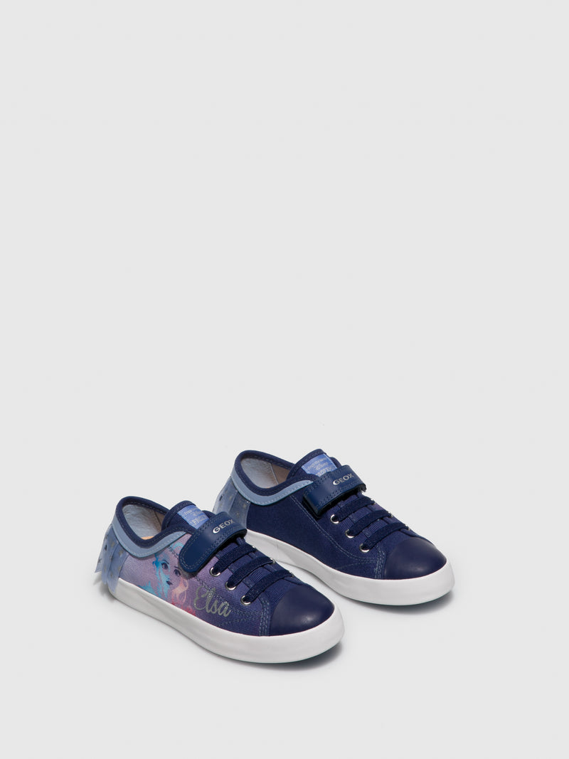 Blue Velcro Trainers
