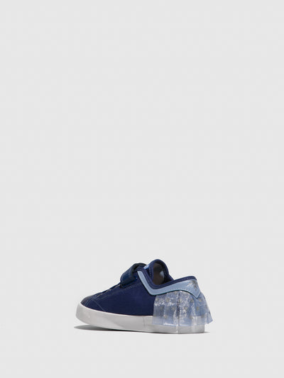 Geox Blue Velcro Trainers