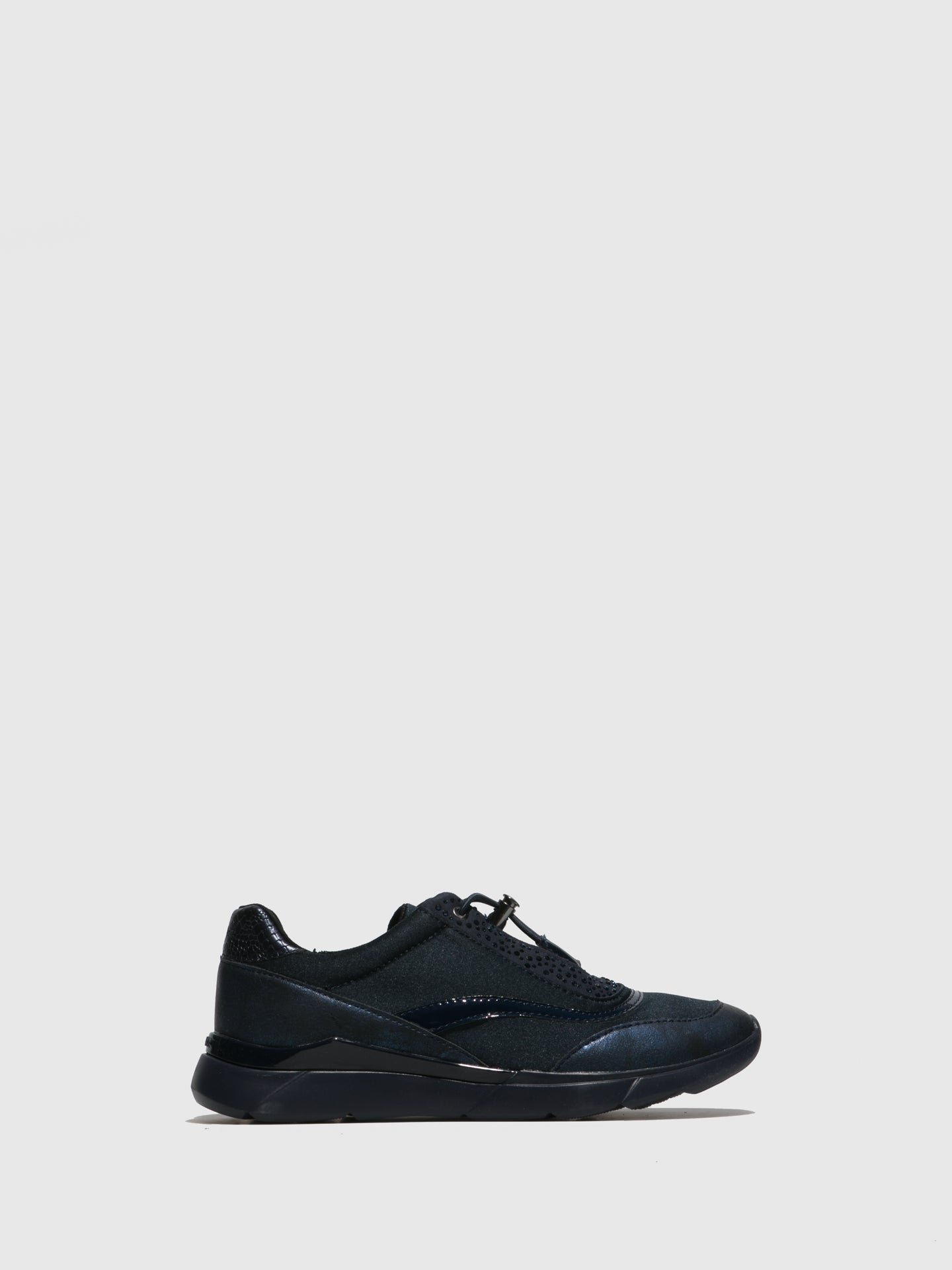 Geox Navy Elasticated Trainers