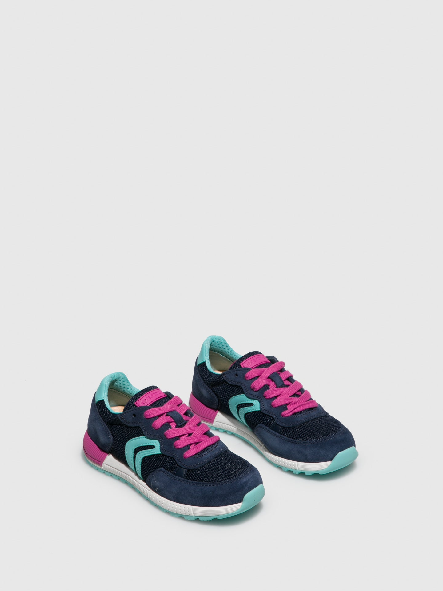 Geox Blue Lace-up Trainers