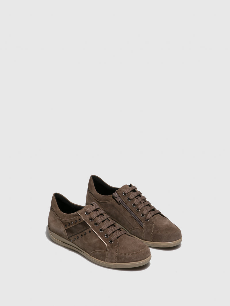 Camel Lace-up Shoes