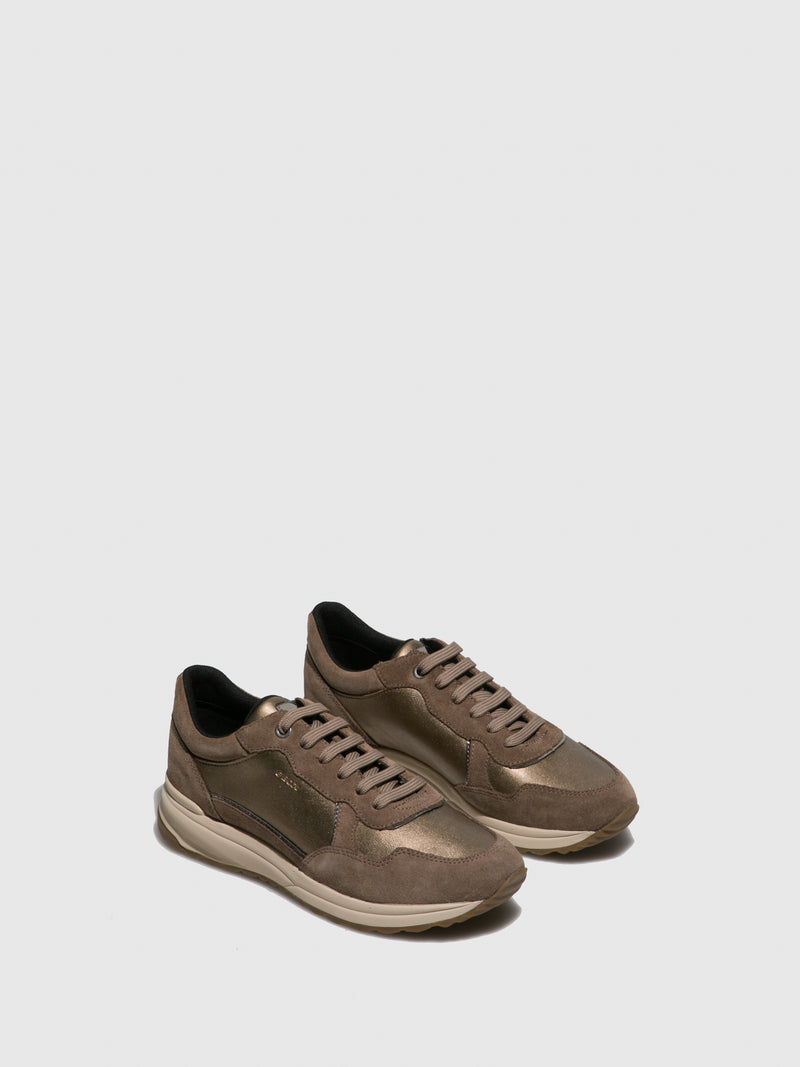 Brown Lace-up Trainers