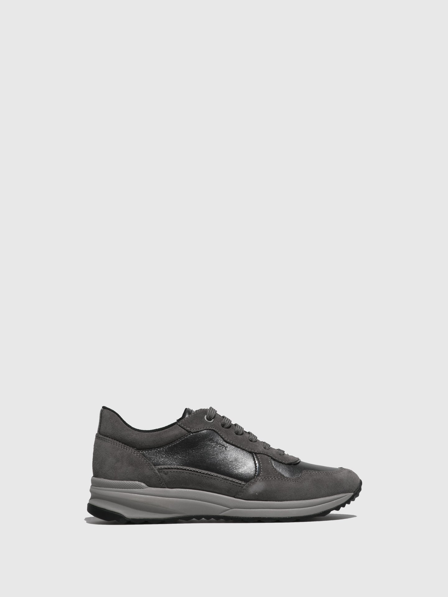 Geox Gray Lace-up Trainers