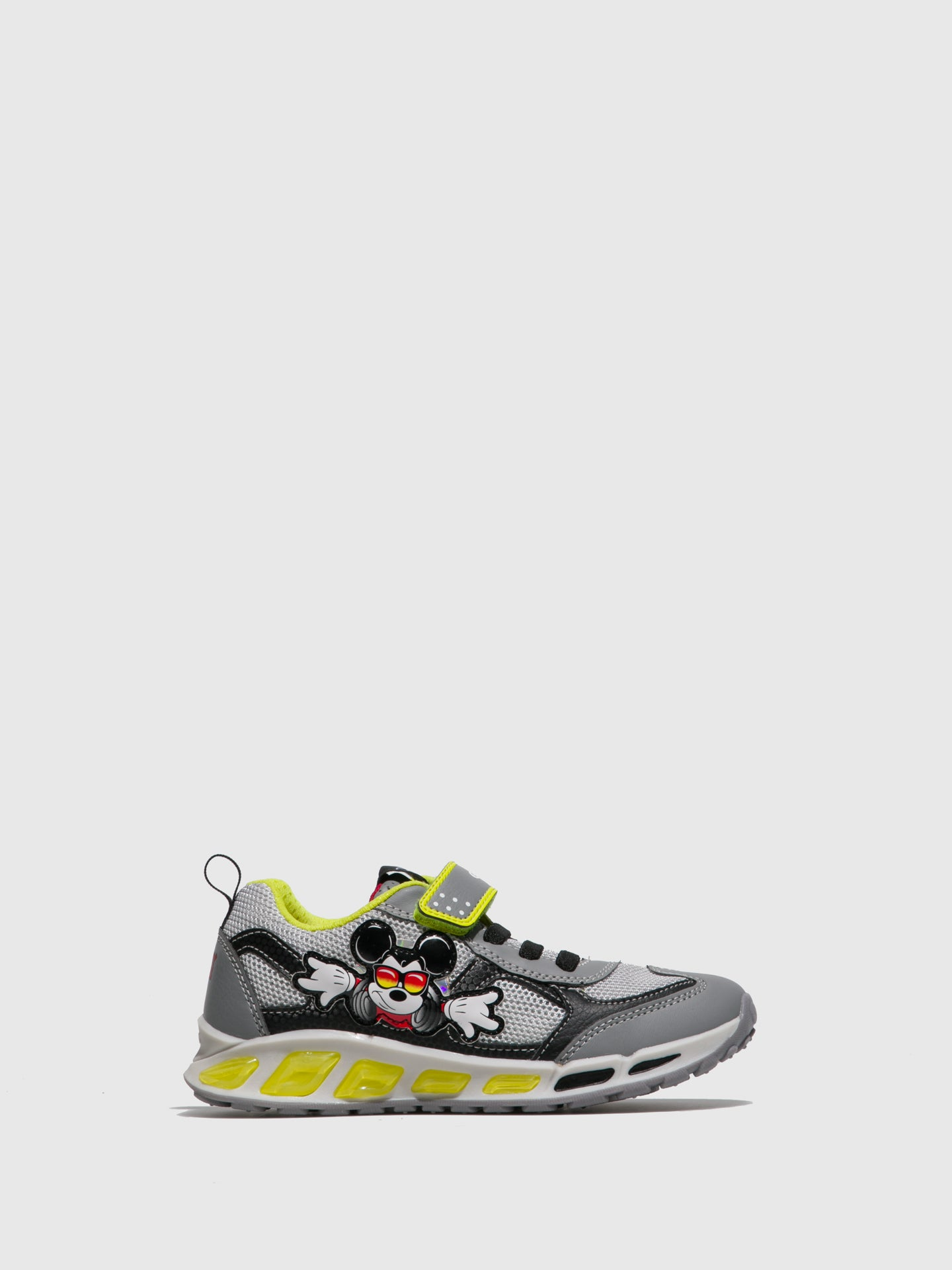 Geox Gray Black Velcro Trainers