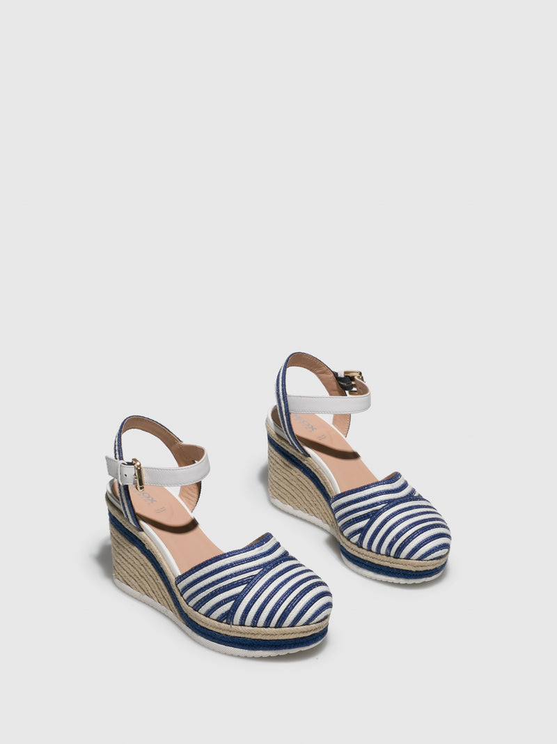 Geox White Wedge Sandals