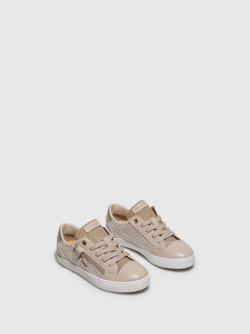 Geox Beige Lace-up Shoes