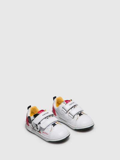 Geox White Velcro Trainers