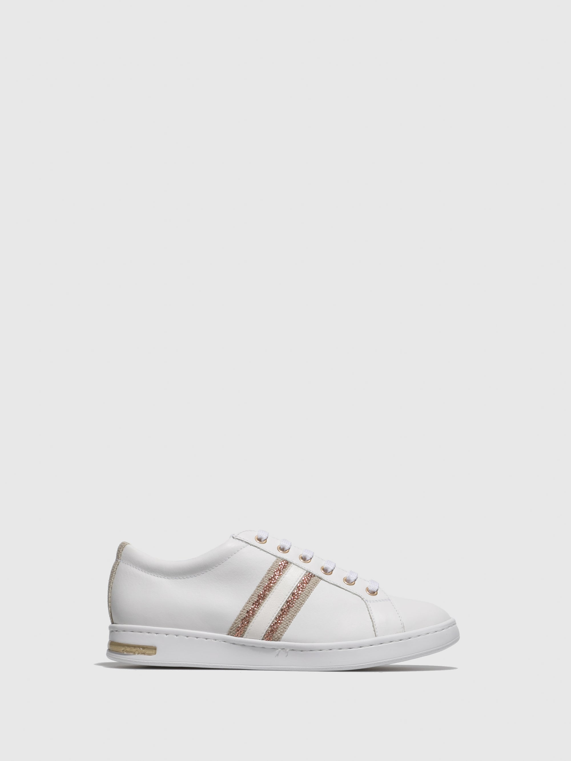 Geox White Lace-up Trainers